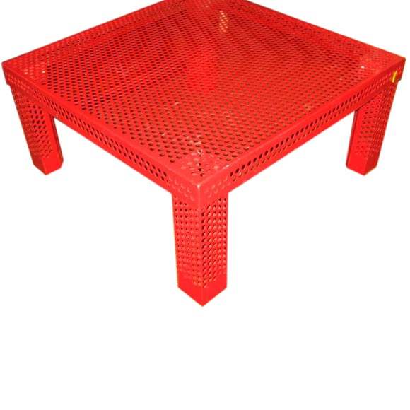 Red Metal Coffee Table By Mathieu Mategot At 1stdibs
