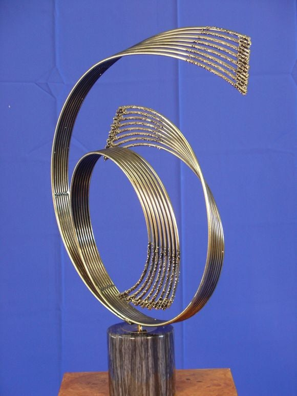 20th Century Brass Sculpture signed C. Jere