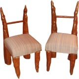 Pair of Cypress Knee Chairs from Polaroid Estate