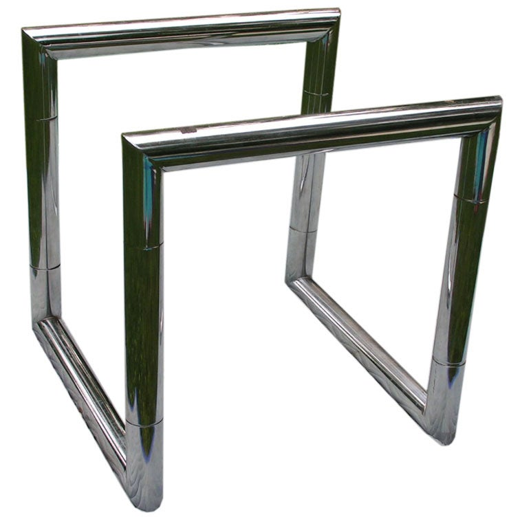 A Unique Chrome Dining Or Card Table Base At 1stdibs