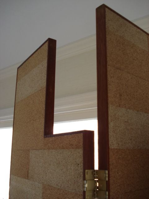 Pair of Modernist Cork Screens after Eileen Gray In Good Condition For Sale In NYC, NY