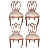 Set of Four Classic Triple-Oval Chairs
