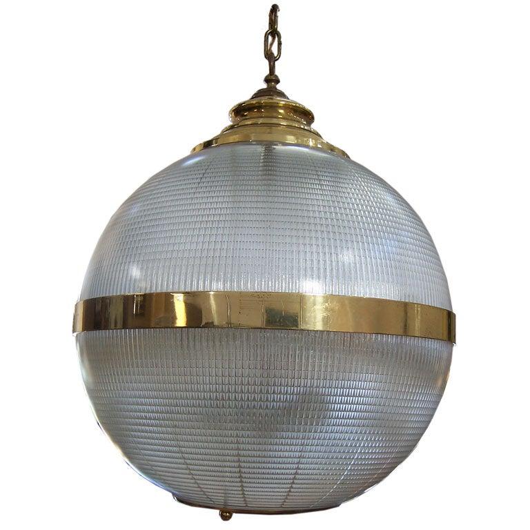 A Large Globe Pendant Light At 1stdibs