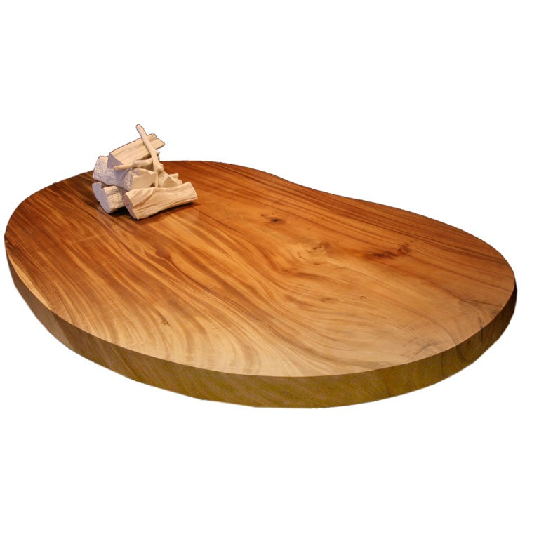 Xl Kidney Shaped Teak Coffee Table At 1stdibs