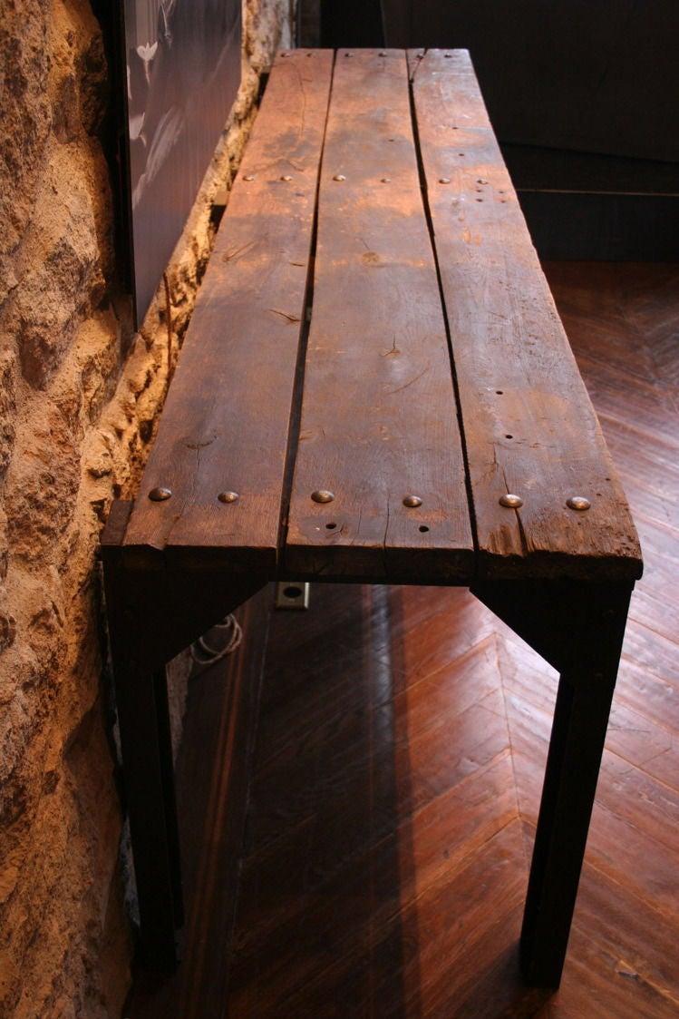 bois metal console at 1stdibs. Black Bedroom Furniture Sets. Home Design Ideas