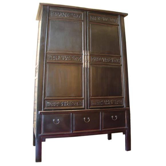 grand asian armoire at 1stdibs. Black Bedroom Furniture Sets. Home Design Ideas