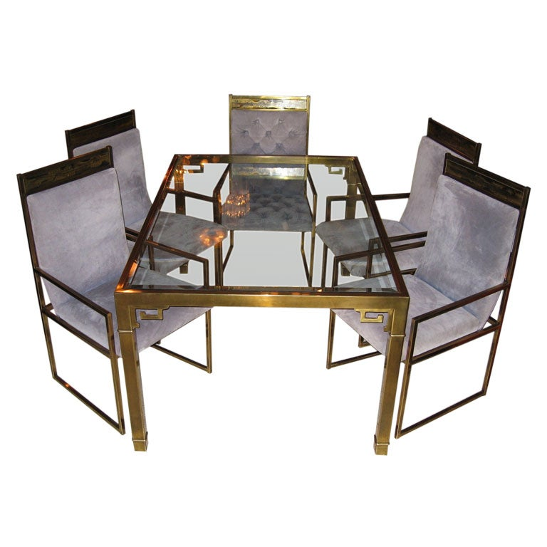 mastercraft for baker furniture solid brass dining set 6