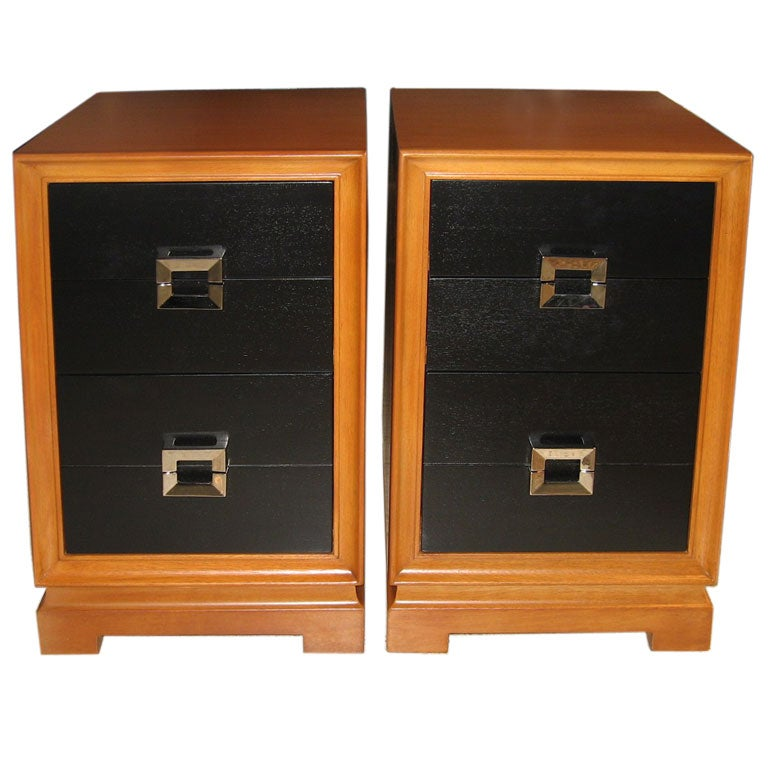 Pair Of Red Lion Furniture Company Night Stands At 1stdibs