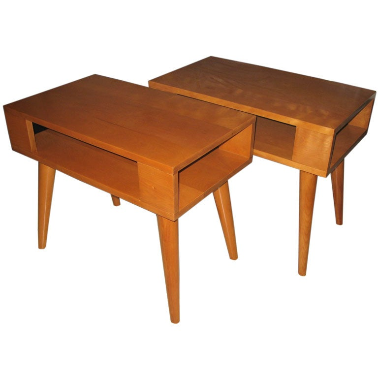 Pair Russell Wright For Conant Ball End Tables At 1stdibs
