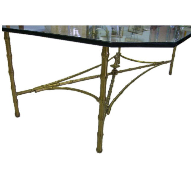 Faux Bamboo Bronze Coffee Table At 1stdibs