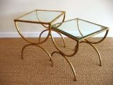 Pair of Gilt Bamboo Tables