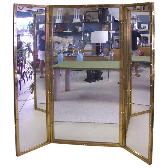 A three panel dressing mirror for Celebrity dressing room mirror