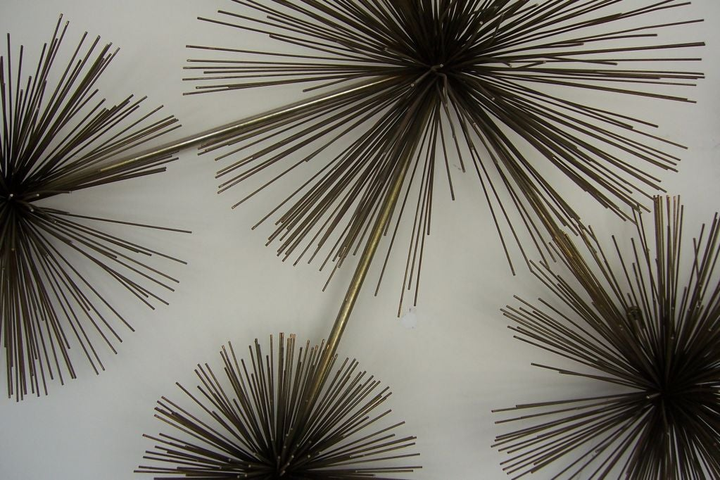 Metal Urchin Wall Decor : A curtis jere sea urchin metal wall sculpture at stdibs