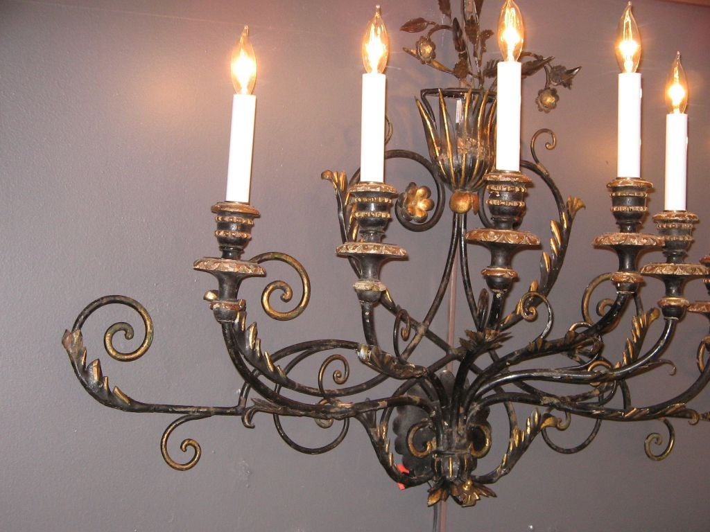 A Large Wrought Iron Art Deco Wall Sconce 3