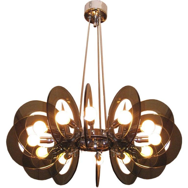 a modernist chandelier in the style of fontana arte at 1stdibs. Black Bedroom Furniture Sets. Home Design Ideas
