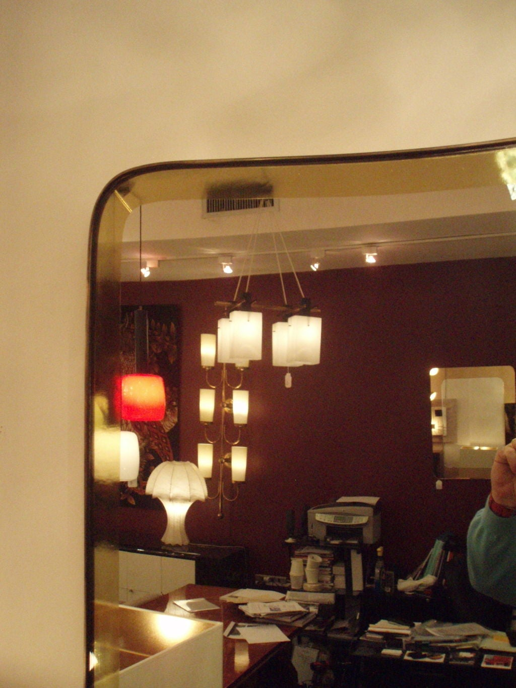 A Fabulous Large Wall Mirror by Max Ingrand for Fontana Arte at ...