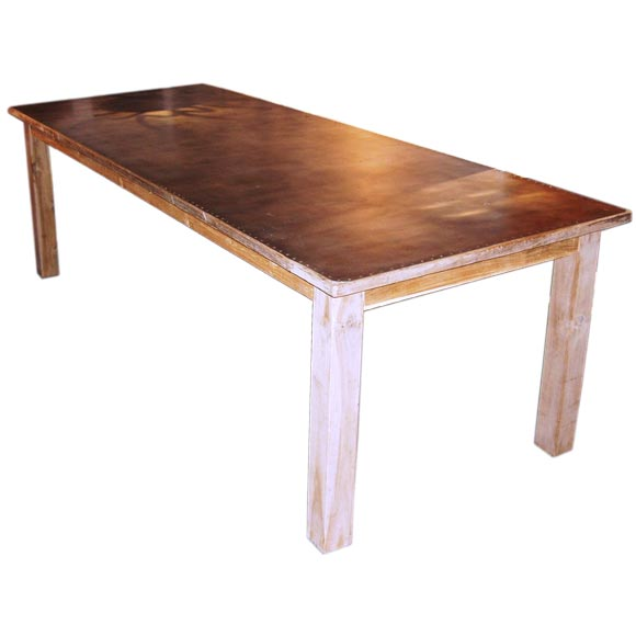 Zinc Top Dining Table At Stdibs - Zinc top dining table