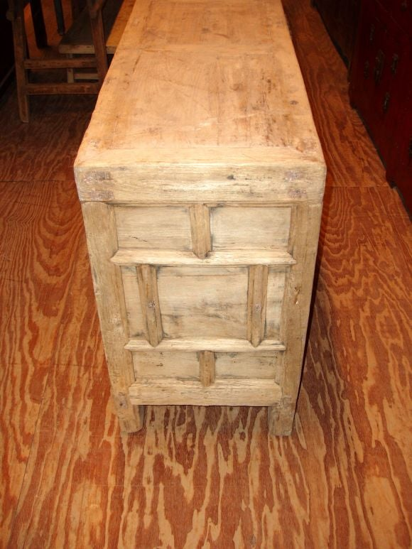 Multi drawer bleached cabinet at 1stdibs for Bleached wood kitchen cabinets