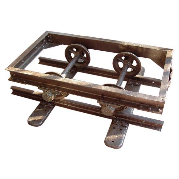 Industrial Trolley Coffee Table At 1stdibs