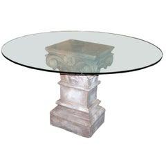 Stone Pedestal Table Base
