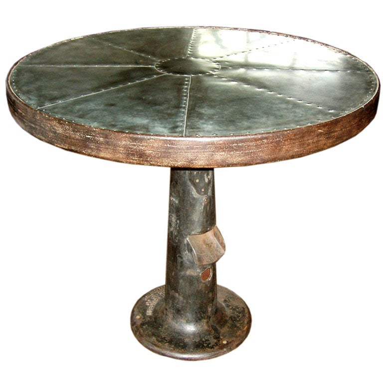 Tall Industrial Cafe Bar Table at 1stdibs : t101 from www.1stdibs.com size 768 x 768 jpeg 69kB
