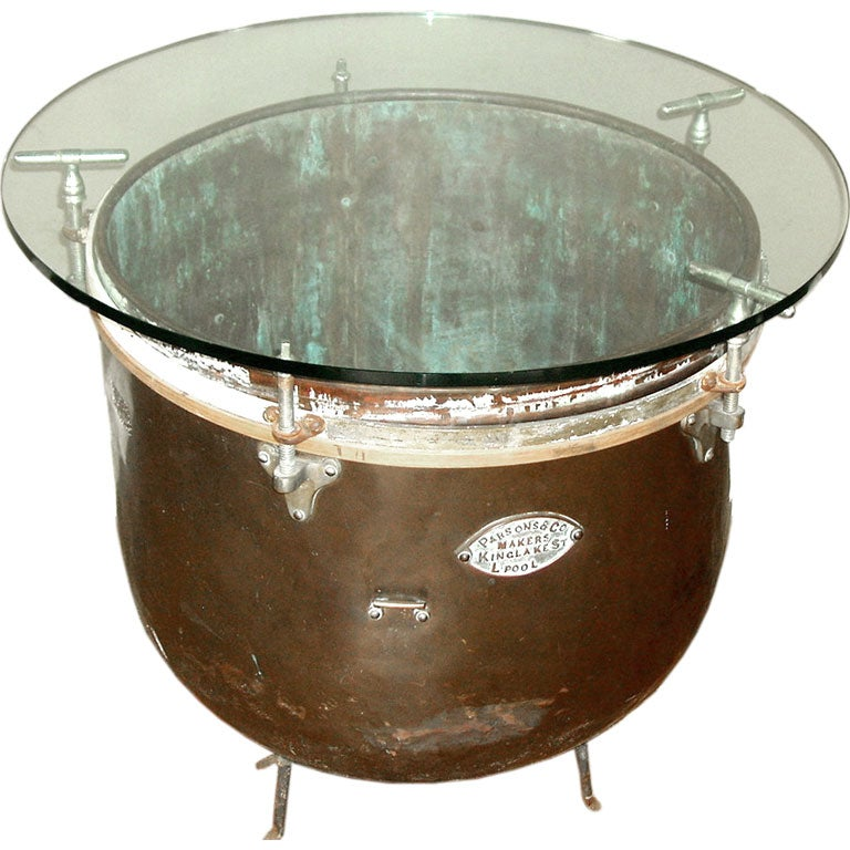 Kettle drum side table at 1stdibs for Drum side table