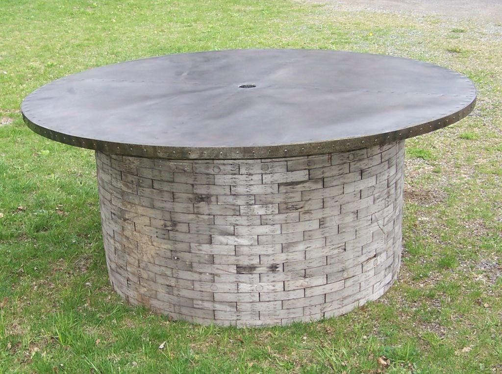 Zinc Top Dining Table at 1stdibs : f805a from 1stdibs.com size 1024 x 763 jpeg 181kB