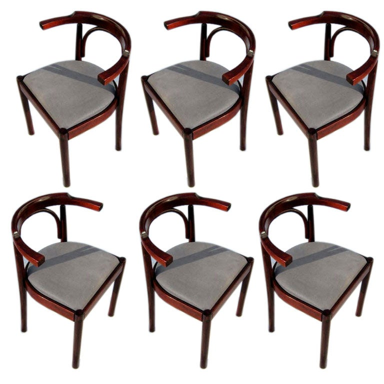 set of six dining room chairs at 1stdibs