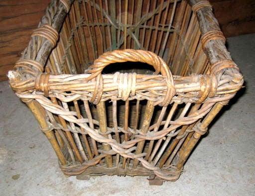 Woven Basket Building : Wicker vineyard basket at stdibs