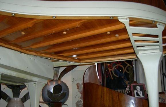 Rippen Mid Century Aluminum Baby Grand Piano For Sale 6