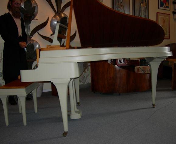 Rippen Mid Century Aluminum Baby Grand Piano For Sale 5