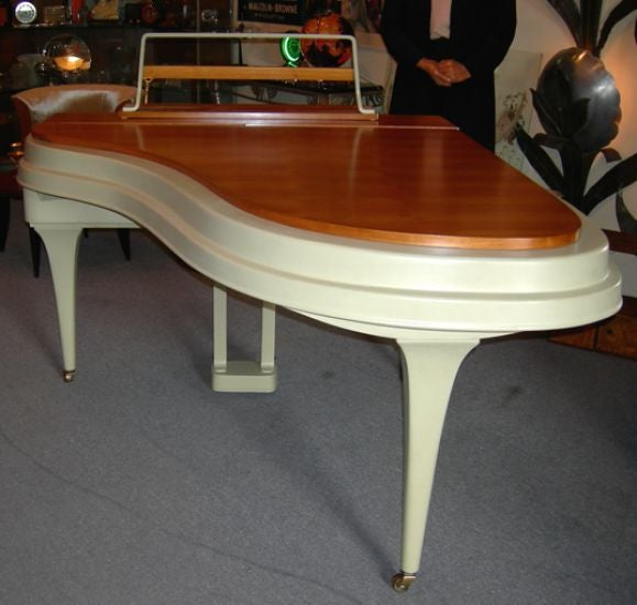 Mid-20th Century Rippen Mid Century Aluminum Baby Grand Piano For Sale