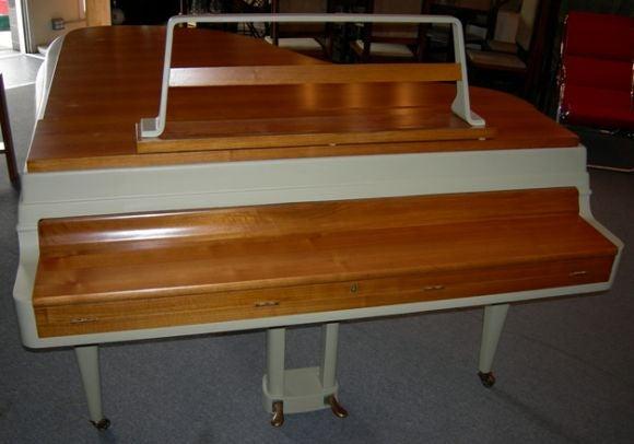 Rippen Mid Century Aluminum Baby Grand Piano For Sale 1