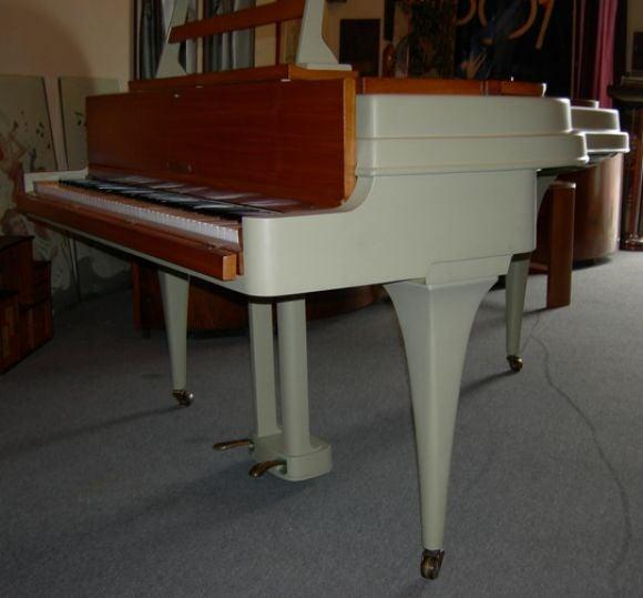 Rippen Mid Century Aluminum Baby Grand Piano For Sale 2