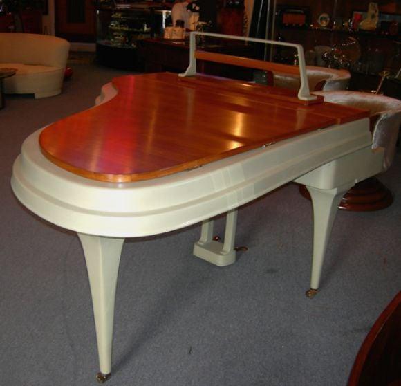 Rippen Mid Century Aluminum Baby Grand Piano For Sale 3