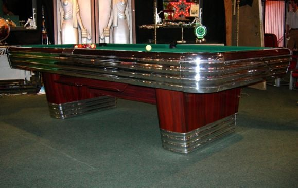 Art Deco Brunswick Centennial Pool Table 2