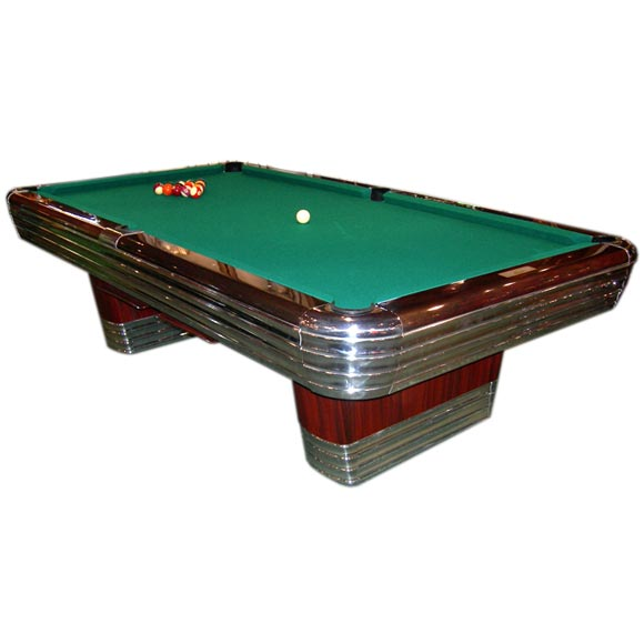 Art Deco Brunswick Centennial Pool Table For