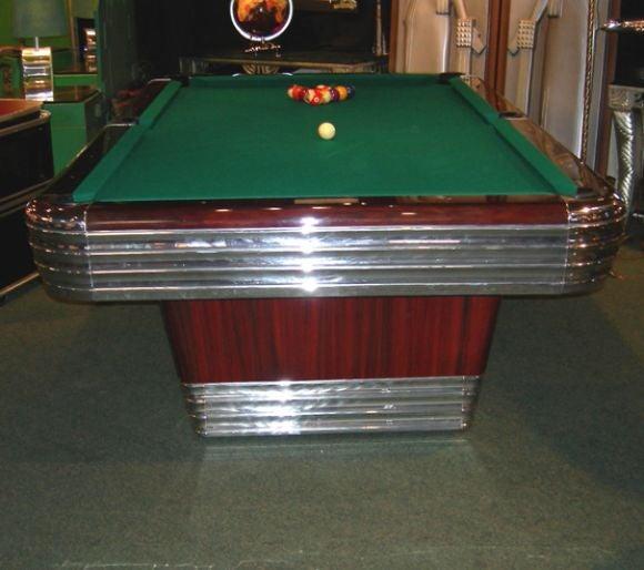 Art Deco Brunswick Centennial Pool Table At Stdibs - Aluminum pool table