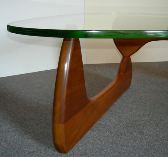 Isamu Noguchi Coffee Table With Original Glass Top At 1stdibs