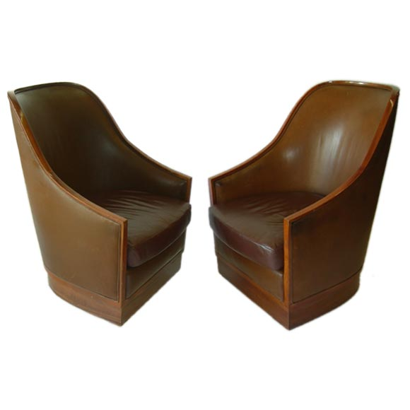 I. M. Pei Leather Armchair from Four Seasons Hotel NYC