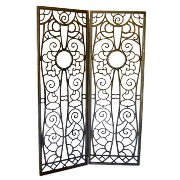 Art Deco Iron Screen in the style of Edgar Brandt at 1stdibs