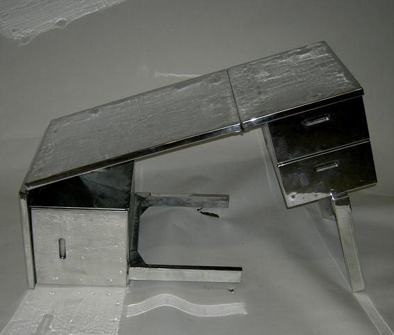 Fold Away Aluminum Desk At 1stdibs