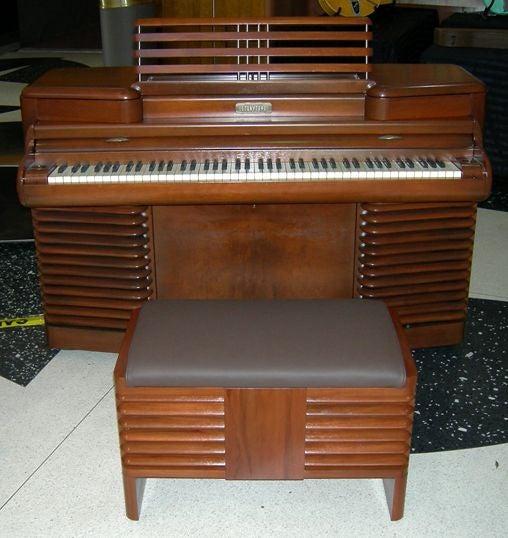 Rca storytone art deco piano john vassos design at 1stdibs for Piani art deco