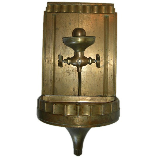 Solid Bronze Art Deco Drinking Fountain 1