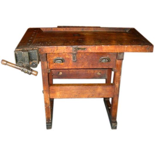 solid wood workbench