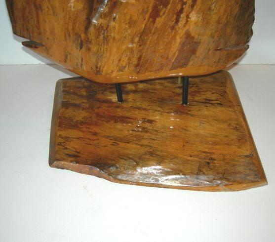 Freeform Burled Cypress Wood Sculptural Lamp At 1stdibs