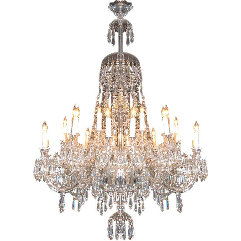 24 Light Grand Italian Crystal Chandelier At 1stdibs