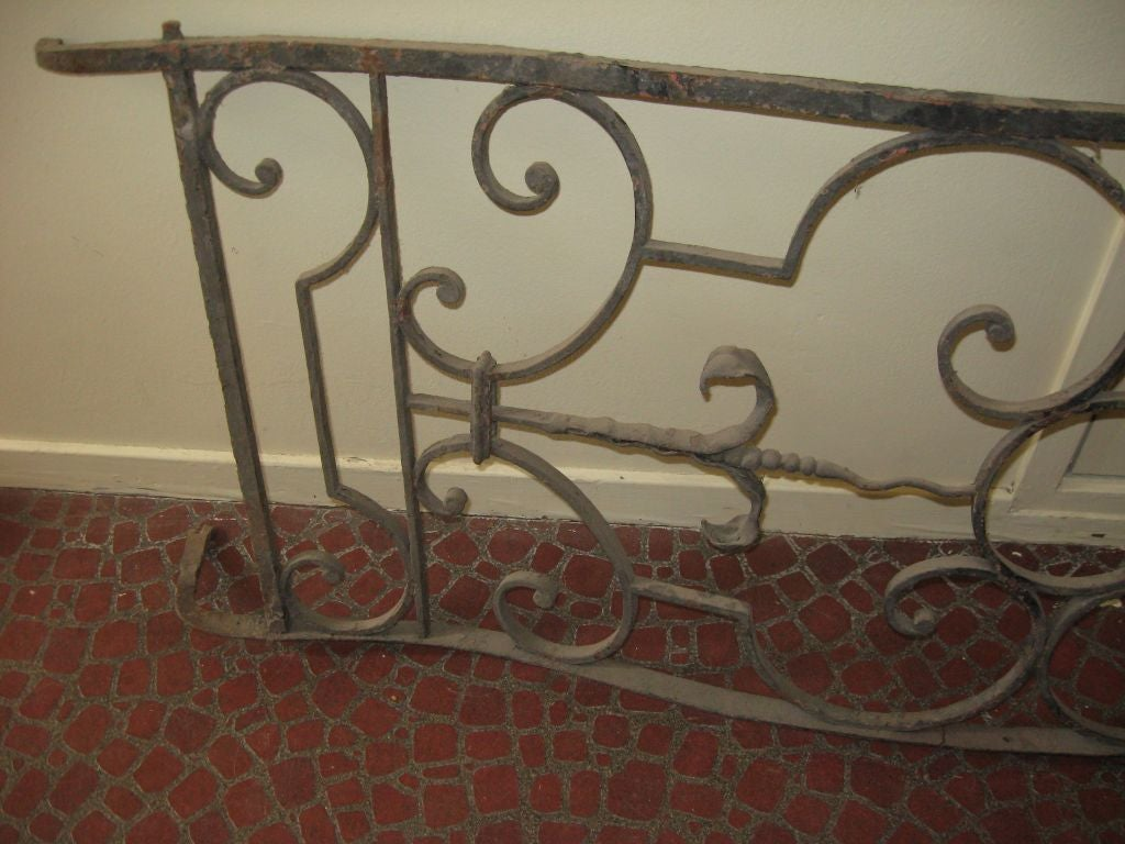 Balcony 18th century french wrought iron for sale at 1stdibs for Balcony console