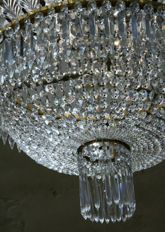 Chandelier 1950s baccarat crystal at 1stdibs louis xvi chandelier 1950s baccarat crystal for sale aloadofball Images