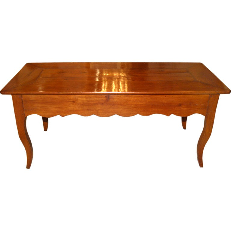 18th C French Cherry Farm Table W Drawers At 1stdibs